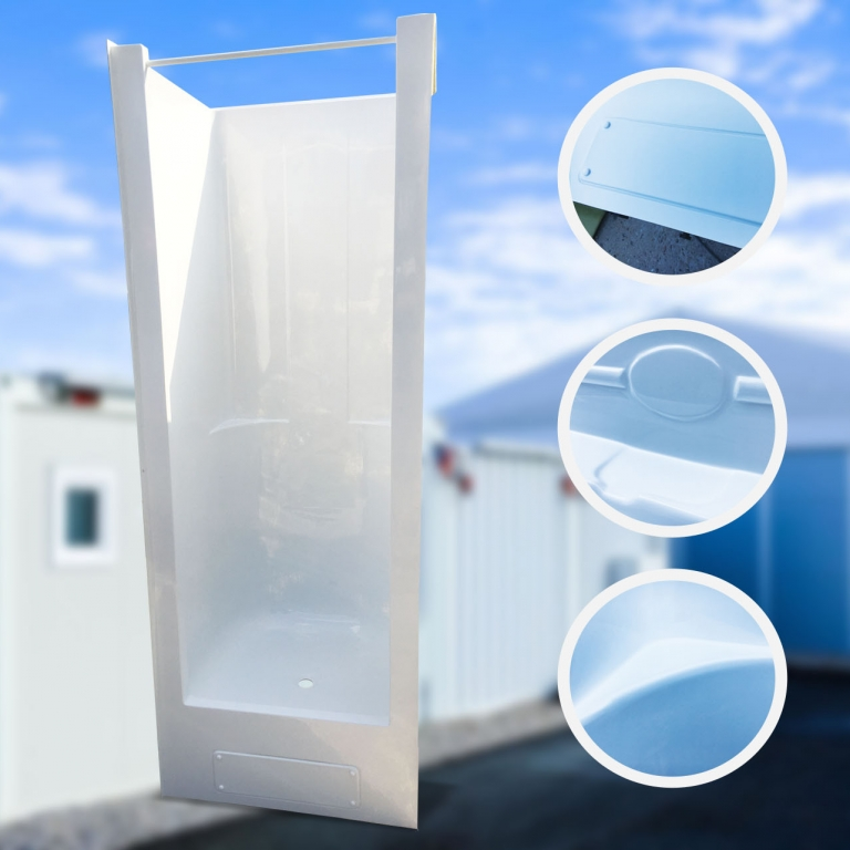 Kabiny prysznicowe  do zabudowy kontenerów